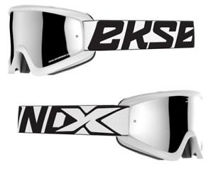 NEW 2019 EKS X BRAND MOTOCROSS MX GOGGLES GOX MR CLEAN WHITE IRIDIUM LENS