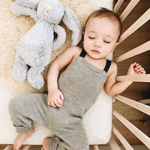 cb3c6055ca85b Fashion Infant Toddler Newborn Baby Boy Girl Clothes Knitted Romper ...
