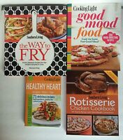 Cooking Light Southern Living Cookbooks New Set 4 PB Healthy Heart Fry Good Food