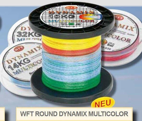 (/1m) (/1m) (/1m) WFT Round Dynamix Kg MULTICOLOR 600m Intrecciato Corda 0,10mm-0, 35mm 502487