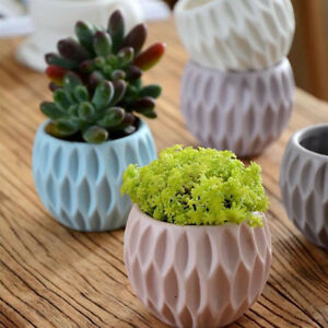 Round-Flower-Pot-Silicone-Mold-Mould-Garden-Planter-Concrete-Vase-Candle-DIY