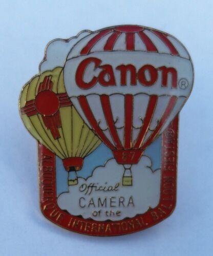 CANON OFFICIAL CAMERA OF 1987 ALBUQUERQUE HOT AIR BALLOON FIESTA RARE PIN BADGE