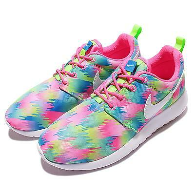 Nike Roshe One Print GS Multi-Color Rosherun Kids Youth Running Shoes  677784-607 a1c79c57f
