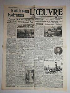 N1110-La-Une-Du-Journal-L-039-uvre-17-juillet-1931-aviateurs-hongrois-Magyar