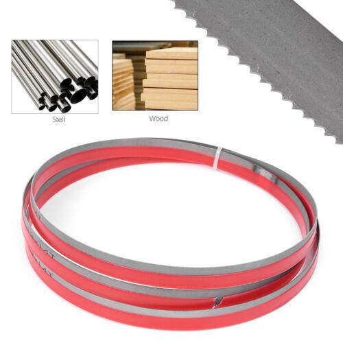 """62/"""" x 1//2/"""" x 14TPI Bi-metal Band Saw Blades Cutting Metal For Wood Steel Plastic"""