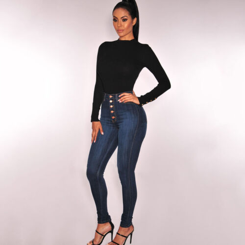 Women/'s High Waisted Skinny Stretchy Pencil Denim Jeans Jeggings Trousers Pants