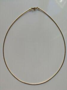 Collier-Chaine-Rigide-Omega-Vermeil-Or-24K-Ras-du-Cou-1-3mm-L-38cm