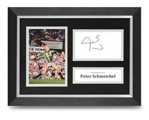 Peter-Schmeichel-Signed-A4-Framed-Photo-Display-Man-Utd-Autograph-Memorabilia