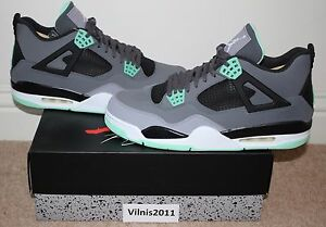 sports shoes 1a9a1 c0dcd Image is loading Nike-Air-Jordan-4-IV-Retro-GREEN-GLOW-