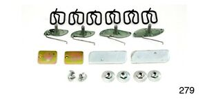 1955-Chevy-Chevrolet-279-Bel-Air-DOOR-MOULDING-CLIPS-Set-New
