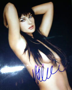 Image Is Loading Huge B Bs Sexy Monica Bellucci Signed 8x10