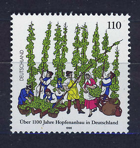 ALEMANIA-RFA-WEST-GERMANY-1998-MNH-SC-2008-Cultivation-of-hops
