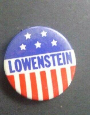 Vintage Allard Lowenstein NY Civil Rights Anti-war Gay Rights Campaign Pin