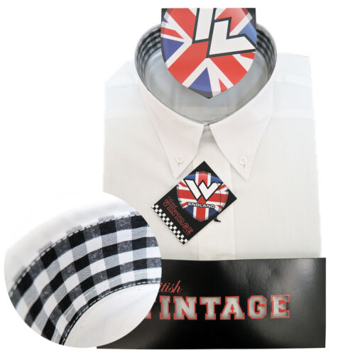 Warrior UK Angleterre Button Down Shirt Ace-face chemise SLIM-FIT skinhead mod
