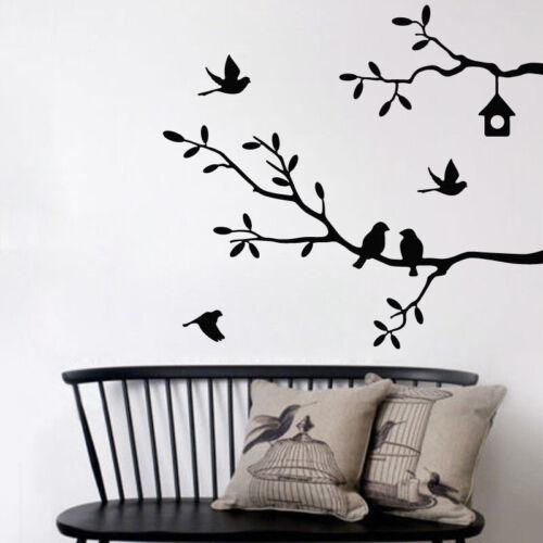 Wandtattoo Wandaufkleber Wandsticker Ast Blätter Vogel Baum Aufkleber Dekor