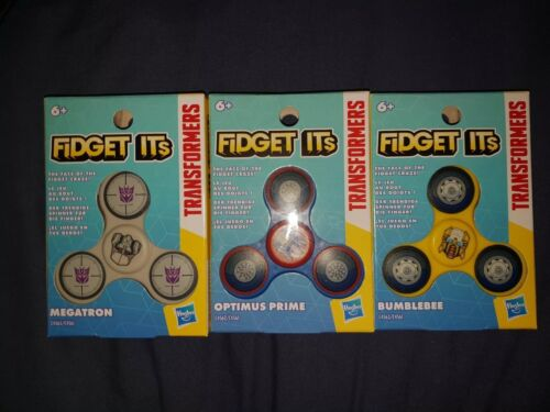 FIDGET ITS SPINNER Fidget spinners TRANSFORMERS SET OF 3 New and sealed
