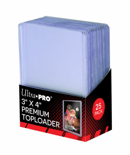 Ultra Pro 3 x 4 SUPER CLEAR PREMIUM Toploader Card Protectors - Packet of 25