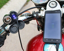 Universal 12V Waterdrop USB Charger Motorcycle GPS Sat Nav Power Adapter Socket