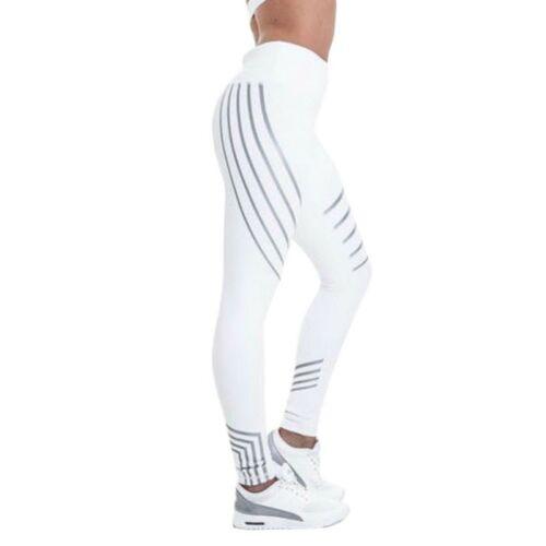 Sport Legging For Women Fitness Yoga Striped Pants Summer Slim High Waist Jogger