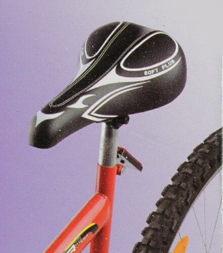 Fahrradsattel 26x15cm NEU bequem Mountain-Bikes Sattel Soft Plus MTB-Sattel