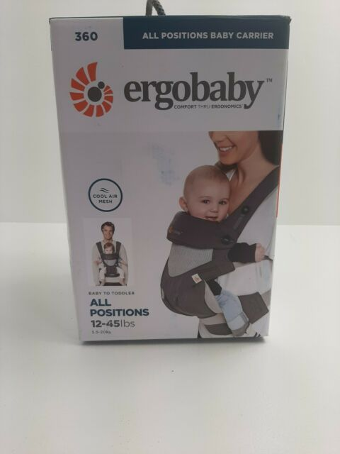 Ergobaby 360 All Positions Baby Carrier, Cool Air Mesh, Carbon Grey