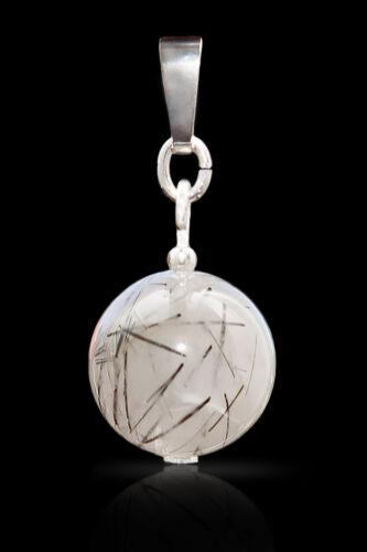 Anhänger Turmalinquarz mit 925 Silber I Kettenanhänger edel Stein für Kette