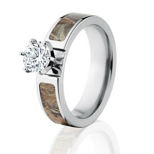 official licensed realtree max 4 engagement bands 1ct cz