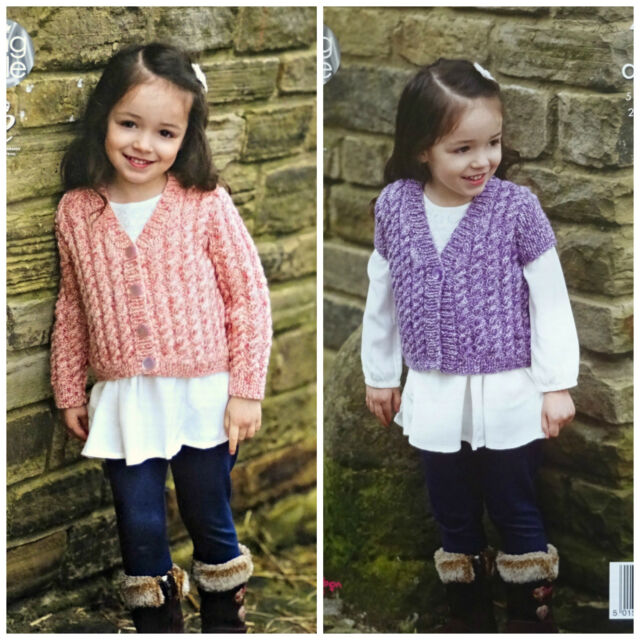 d63ff18f5 King Cole Aran Knitting Pattern 4629 Childrens Cardigans for sale ...