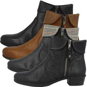 Rieker Stiefeletten Damen Absatz Schuhe Antistress Stiefel