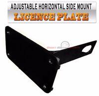 Klr650 Klr250 Klr 650 250 License Plate Bracket Side Mount Tag Horizontal Black on Sale