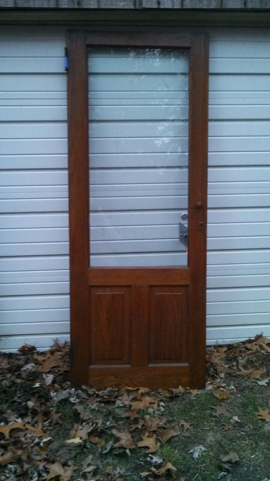 CABINET DOOR WITH WAVY GLASS NATURAL NOT PAINTED CAN SHIP