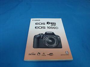 canon eos rebel xs 1000d camera instruction manual book in spanish rh ebay com canon eos rebel xs 1000d manual español canon eos rebel xs tutorial español