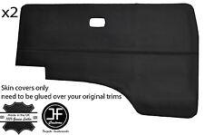 Vinilo Negro Tarjeta de puerta 2X Puntada cubre VW T25 T3 Westfalia Camper se ajusta