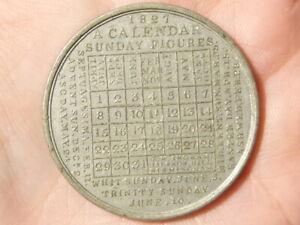 1827-Calendar-Sunday-Figures-By-T-W-INGRAM-Birmingham-King-George-IV-Medal-R21