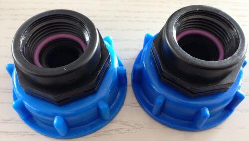 bidons 2x at290 expiration IBC-Conteneur-Accessoires-eau de pluie-Jardin-Adaptateur-tonne