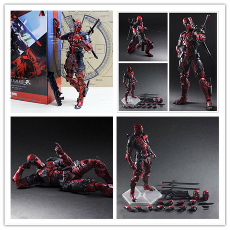 Marvel Play Arts Kai Deadpool VARIANT 10  PVC Action Figure Collectible Toy+box