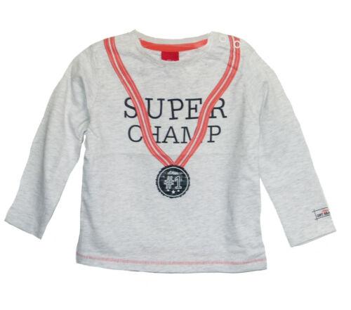 Longshirt Super Champ Print in grau melange 0105 s.Oliver Baby Langarmshirt