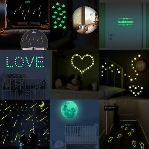 Glow-in-the-Dark-Stars-Wall-Stickers-Luminous-Decals-Fluorescent-Bathroom-Mural