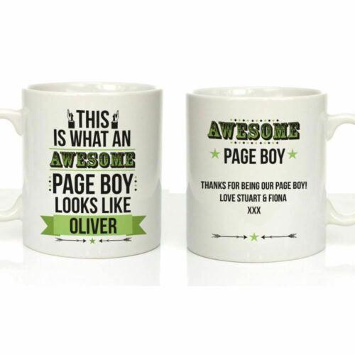 Personalised Awesome Page Boy Mug Gift Wedding Thank You Keepsake Gift Ideas Him
