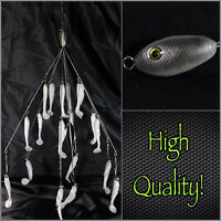 Alabama/umbrella Rig (bait Ball Style) 7 Wire19 Baits Total High Quality