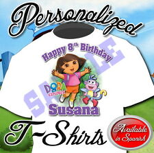 Dora and Diego Custom Personalized Birthday Party Favor Gift T-Shirt NEW