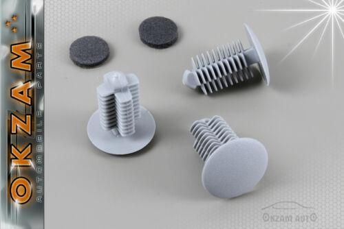 UNIVERSAL AUTO INTERIOR TRIM FASTENER PLASTIC CLIPS X20 GREY