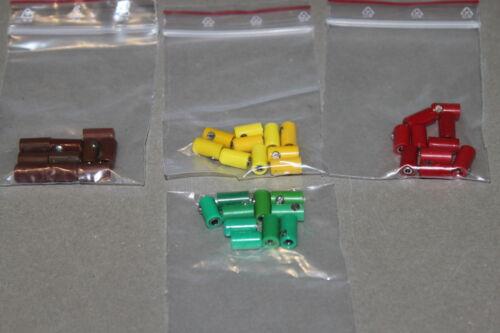 40 pezzi cavo connettore manicotti traccia h0 4 Colori Rosso//Verde//Giallo//Marrone