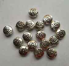 50 pcs Tibetan silver eye flowers Charm Spacer beads 6x3mm
