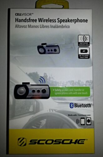 SCOSCHE NIB CellVisor HANDSFREE WIRELESS Bluetooth Speakerphone BTHFV