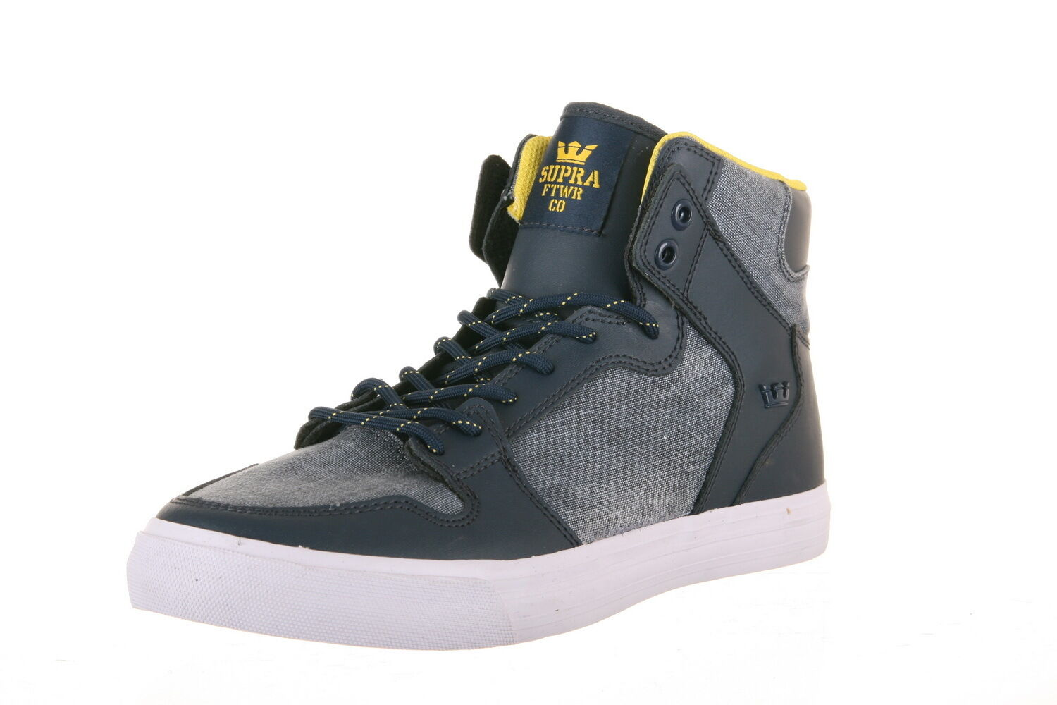 S28199 -  Uomo Supra Vaider Navy/Yellow/White New In Box