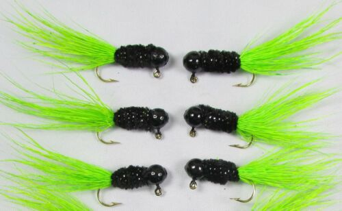 Details about  /12 Grandpa/'s Crappie Jig 1//16oz Mustad Hook #6 Deer Belly Hair Tail PAPERMOUTHS!