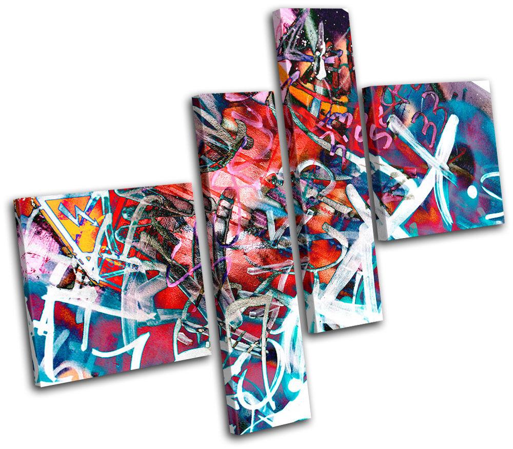 Typography Urban  Graffiti MULTI LONA pa Foto rojo  arte Foto pa impresion 46b052