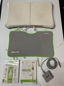 Nintendo-Wii-Fit-Plus-Bundle-With-Balance-Board-With-Risers-Tested-And-Working