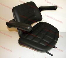 008000167B91 Seat w Suspension BLACK Vinyl for Mahindra Tractor 4500 5500 6000